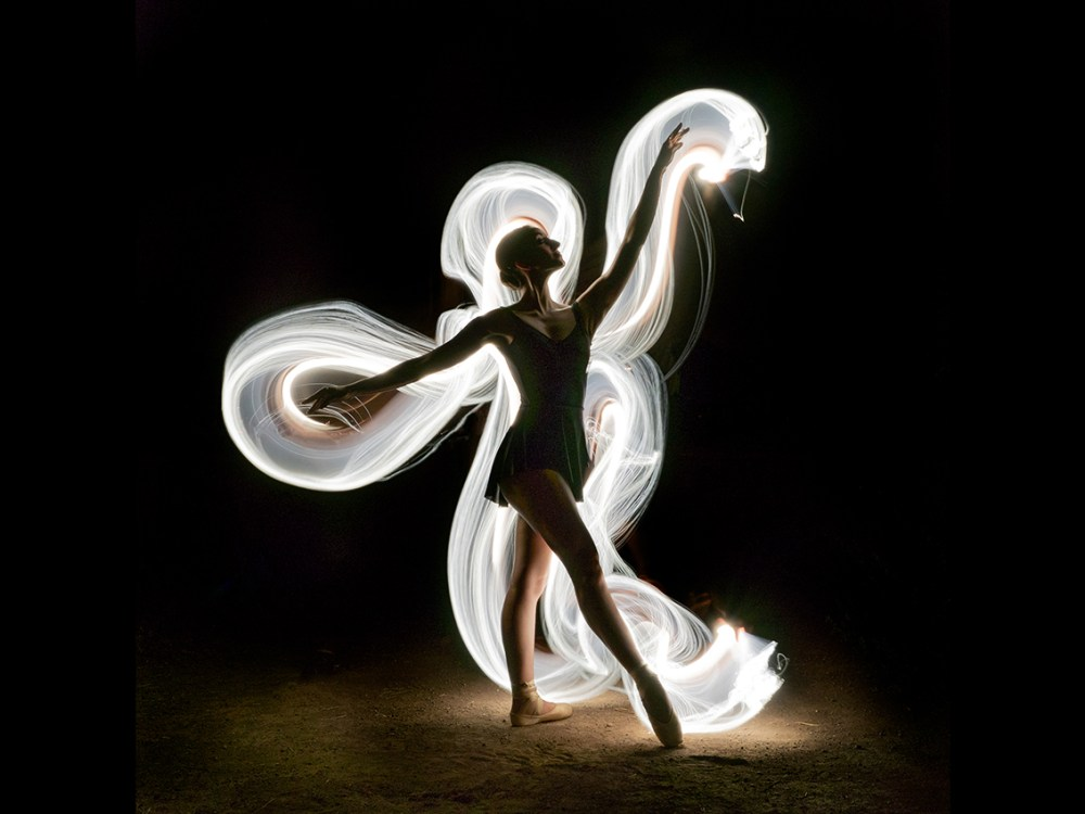 Dance soul Medium Photography with Light Painting technique Size 30x40cm