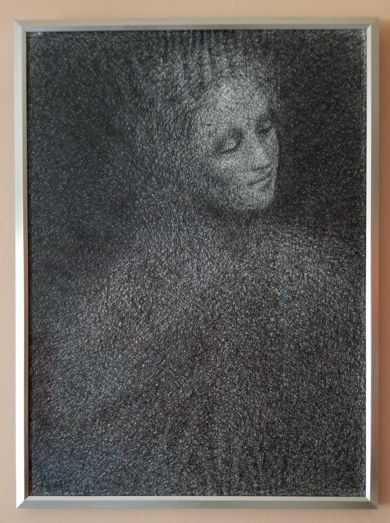 Study after Leonardos Burlington Cartoon | Ballpoint Pen on Paper | 30 x 22 x 0.05 in