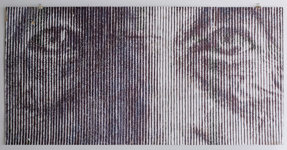 S… like Solveig aka What [?] If [?] or a New Grate v.7.13 | Mixed Media over Paper | 100 x 176 cm.