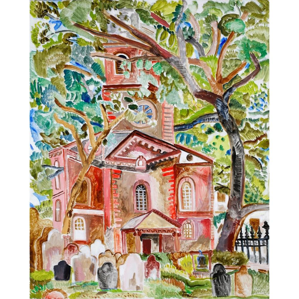 "Graveyards -Trinity Church | Oil on linen | 24""x30"""