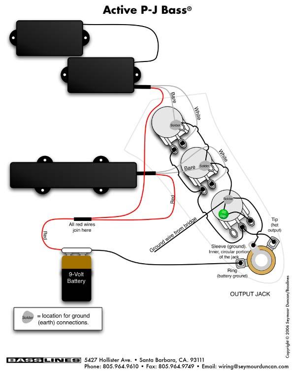 music instrument pj bass wiring diagram