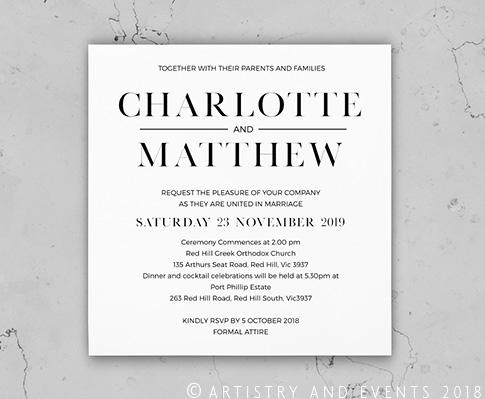 White Acrylic Wedding Invitations