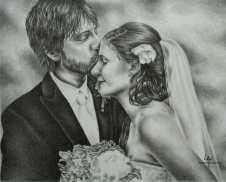 """Stolen Kiss"" 8"" x 10"", Graphite Pencil on Watercolor Paper, SOLD"
