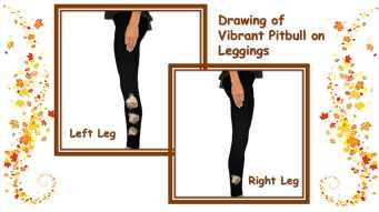 Wear these adorable leggings and people will want to cuddle your legs! Wait... no...that's not right... http://www.zazzle.com/drawing_of_vibrant_pitbull_on_leggings-256664792882521444