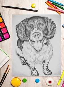 spaniel_8x10_oncrafttable