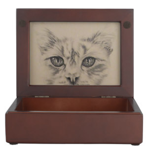 White Cat on Keepsake Box (Inside view) http://www.zazzle.com/nosesnposesfromalm