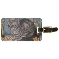 http://www.zazzle.com/cat_drawing_with_daffodils_on_luggage_tag-256844760572080380