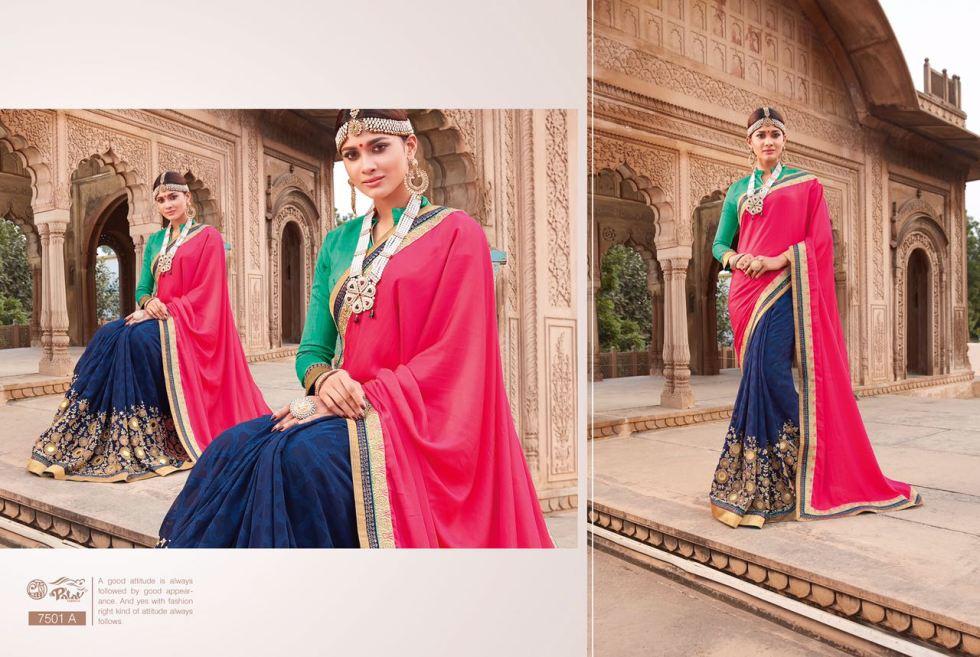 Palav Fabric Designer Saree PP7501A