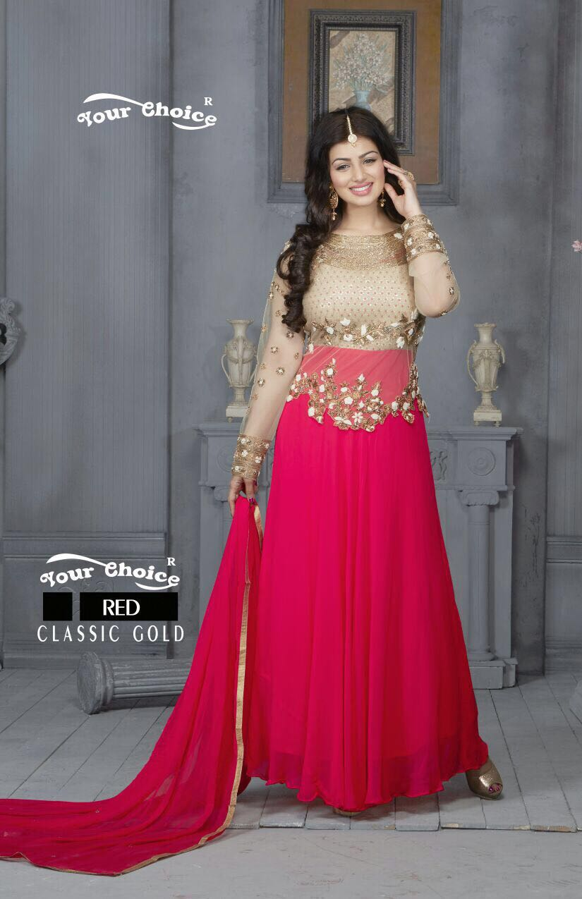Ayesha Takia in Red Floor Length Anarkali suit