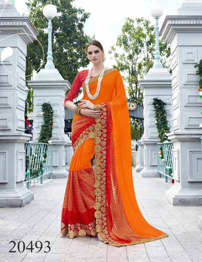 Big Embroidered Border Saree Noopur 20493