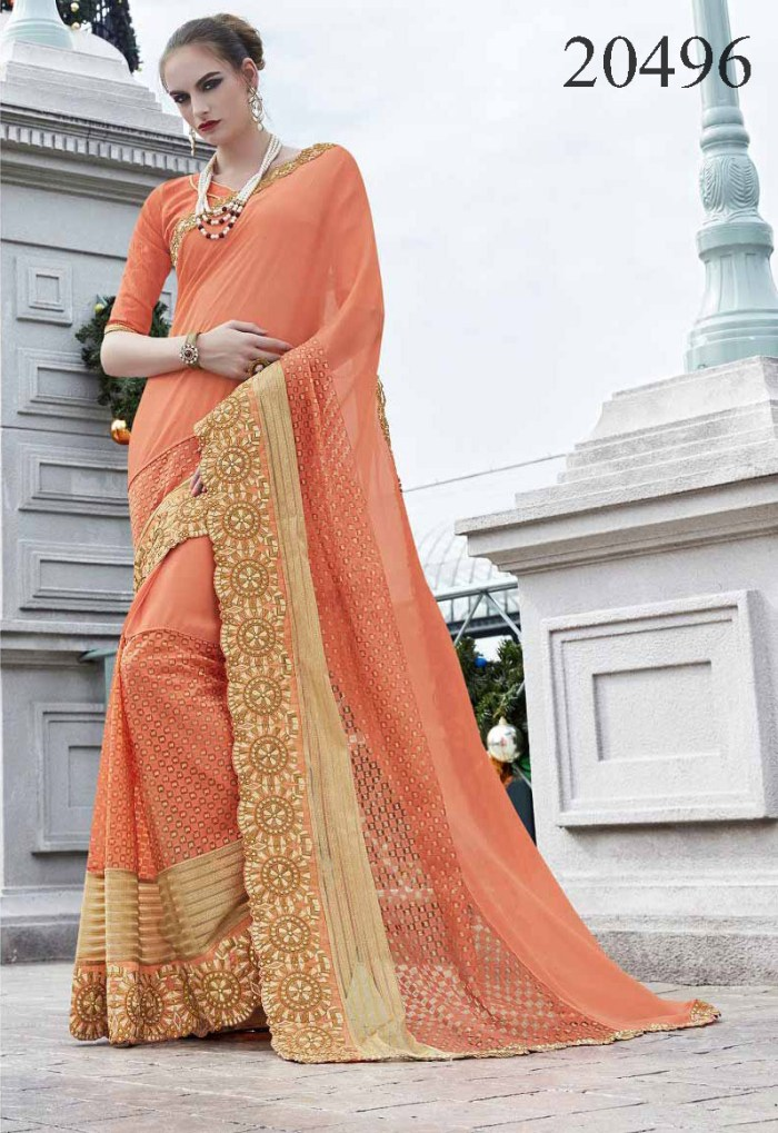 Big Embroidered Border Saree Noopur 20496