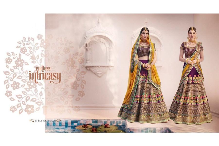 Nakkashi Ethnic v2 Lehenga Saree 5076 | Brides Wear