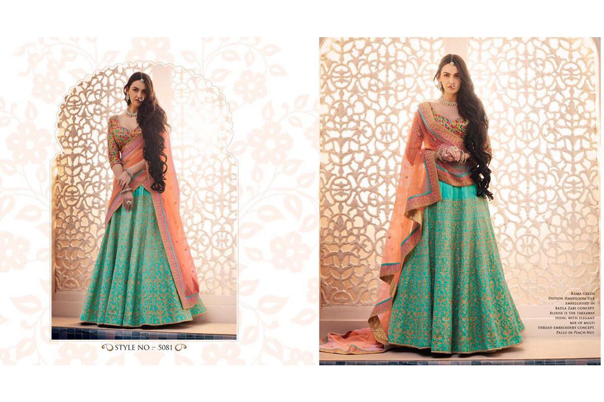 Nakkashi Ethnic v2 Lehenga Saree 5081 | Brides Wear