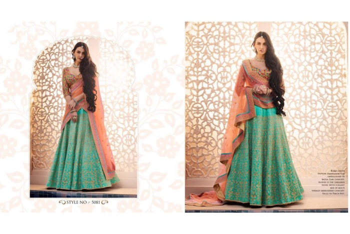 Nakkashi Ethnic v2 Lehenga Saree 5081 | Brides Wear