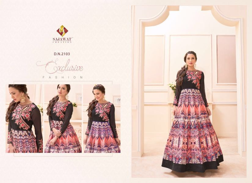 Gauhar vol 1 Floor length Salwar Kameez 2103