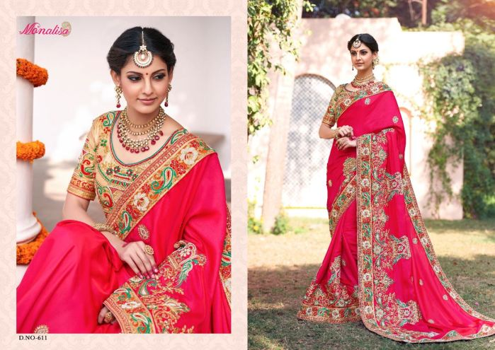 Monalisa v6 Bridal Sarees MM611 | Bridal Wear for LadiesShop Online Monalisa v6 Bridal Sarees MM611 @ArtistryC | Best Price: Rs 7347 or $ 122 | Free shipping in India - International shipping