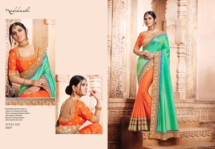 Nakkashi Elegance Euphony Designer Saree 4069 | Party Wear for LadiesShop Online Nakkashi Elegance Euphony Designer Saree 4069 @ArtistryC | Best Price: Rs 3979 or $ 66 | Free shipping in India - International shipping