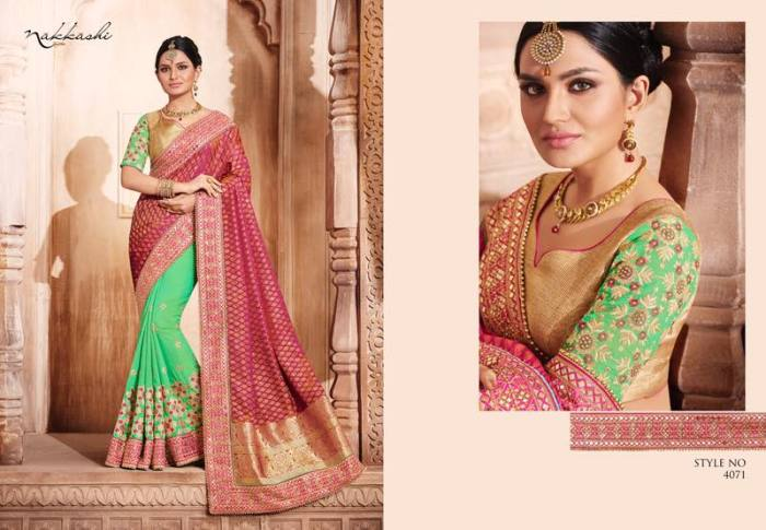 Nakkashi Elegance Euphony Designer Saree 4071 | Party Wear for LadiesShop Online Nakkashi Elegance Euphony Designer Saree 4071 @ArtistryC | Best Price: Rs 4811 or $ 80 | Free shipping in India - International shipping