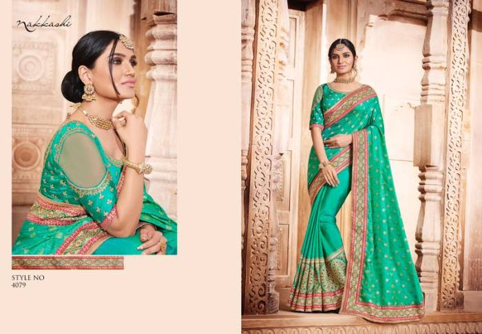 Nakkashi Elegance Euphony Designer Saree 4079 | Party Wear for LadiesShop Online Nakkashi Elegance Euphony Designer Saree 4079 @ArtistryC | Best Price: Rs 4057 or $ 68 | Free shipping in India - International shipping