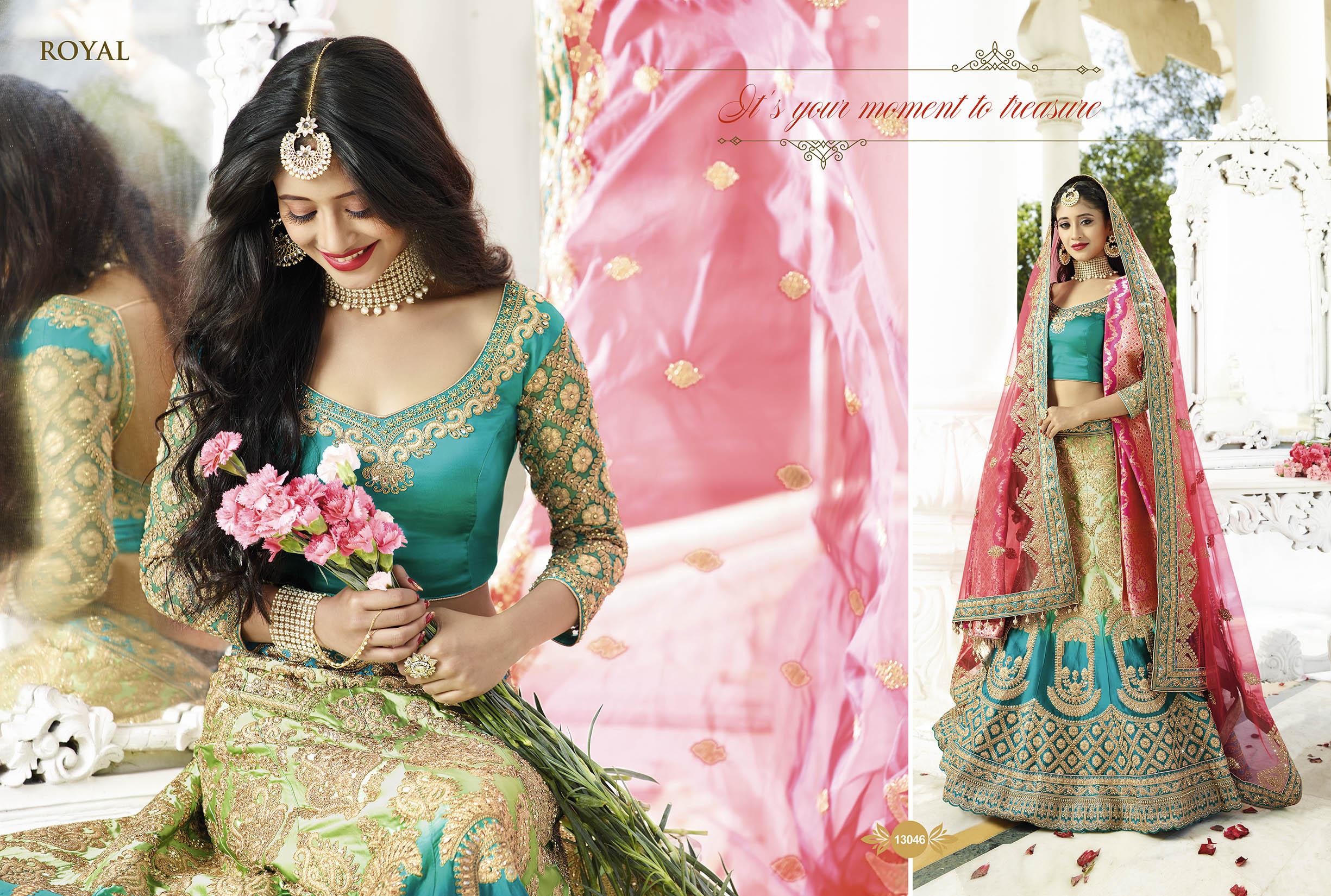 Royal Lehenga choli for wedding 13046 | Indian Bridal Wear