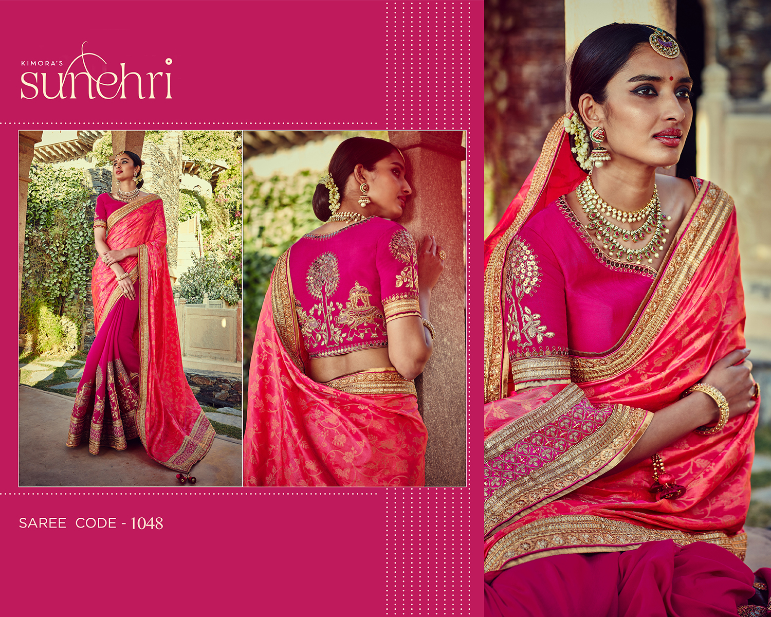 Sunehri v4 Bridal Saree 1048