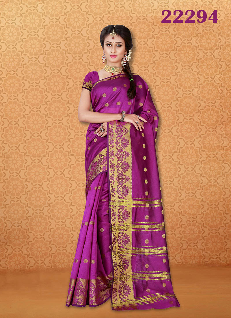 Kanjivaram Sarees Chennai Express v7 22294 | Bride Special