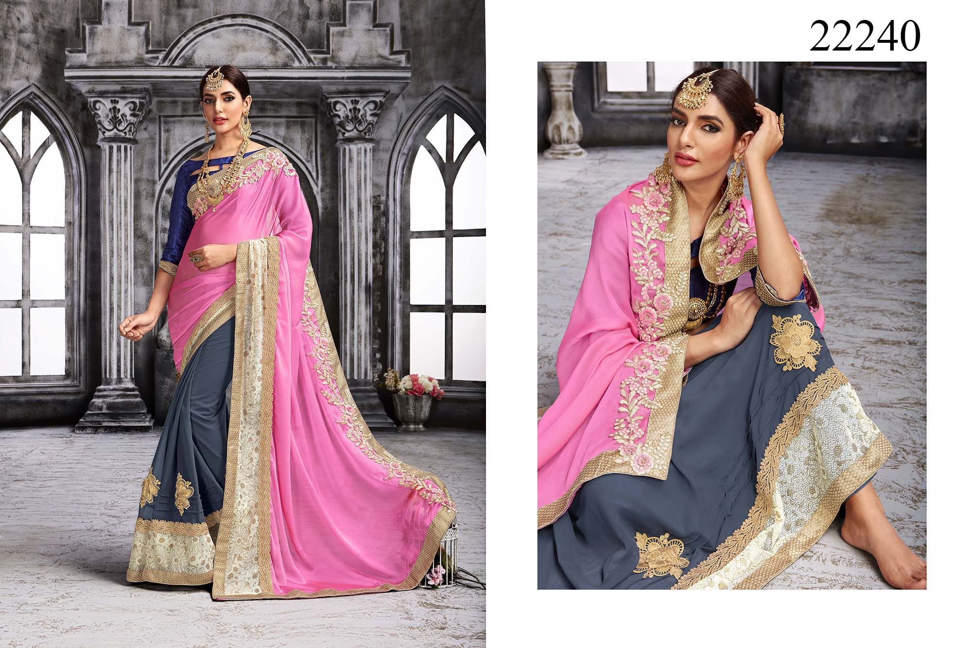 Newly Wedded Bridal Saree Yesenia 22240 | Bride Special