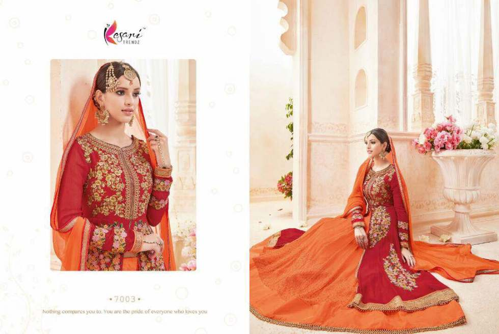 Kyra Floor Length Anarkali Suits 7003 B