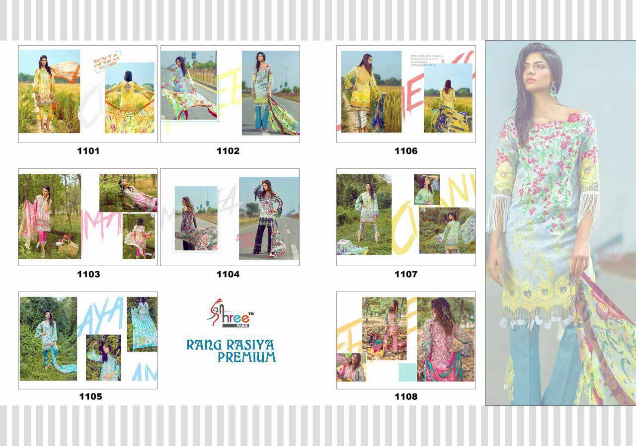 Rang Rasiya Premium Cambric Cotton Dress Material
