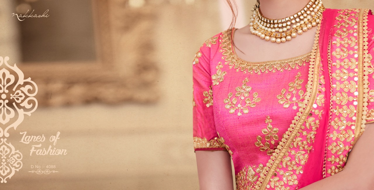 Nakkashi Elements Bridal Lehenga