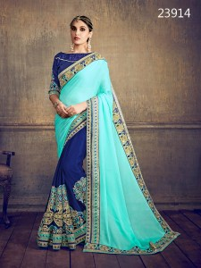 Half and Half Party Wear Saree Dazel