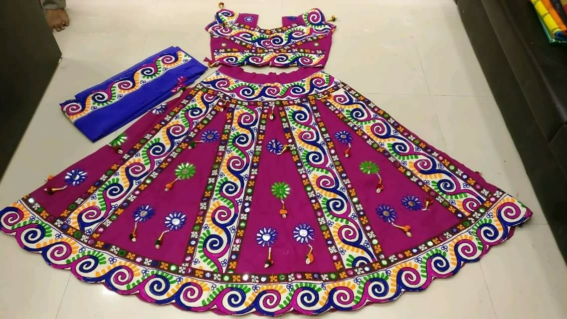 Kutchi Traditional Gamthi work Chaniya Choli Style A 01