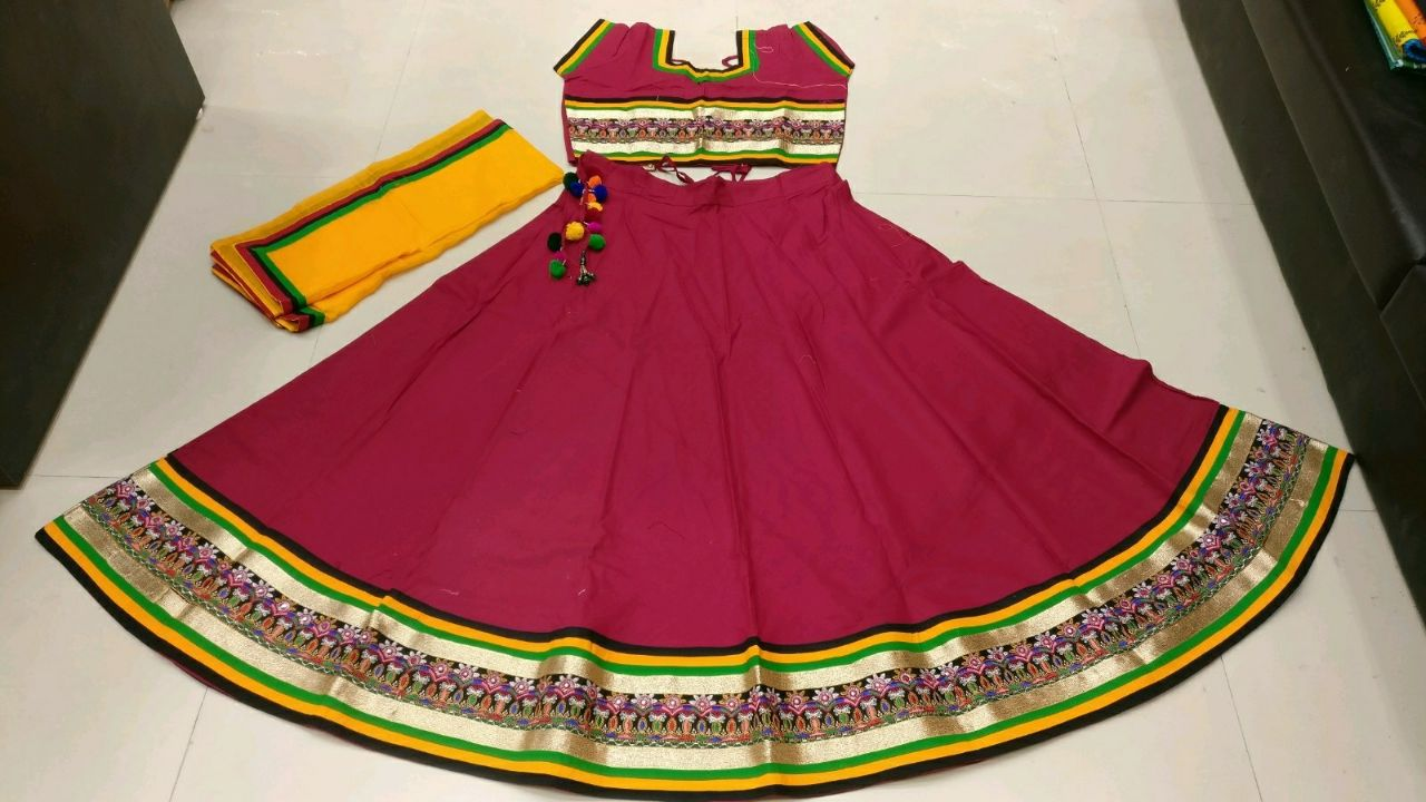 Kutchi Traditional Gamthi work Chaniya Choli Style E