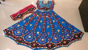 Kutchi Traditional Gamthi work Chaniya Choli Style F