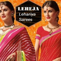 Shop Leheja Lehariya Sarees with Blouse Online