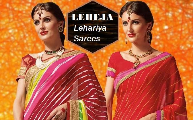 Shop Leheja lehariya sarees Online