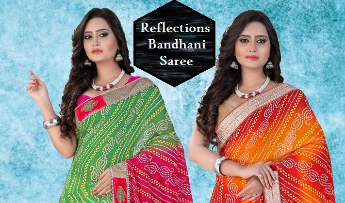 Shop Reflections Bandhani Saree Online
