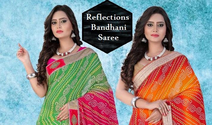 Shop Reflections Bandhani Saree Online