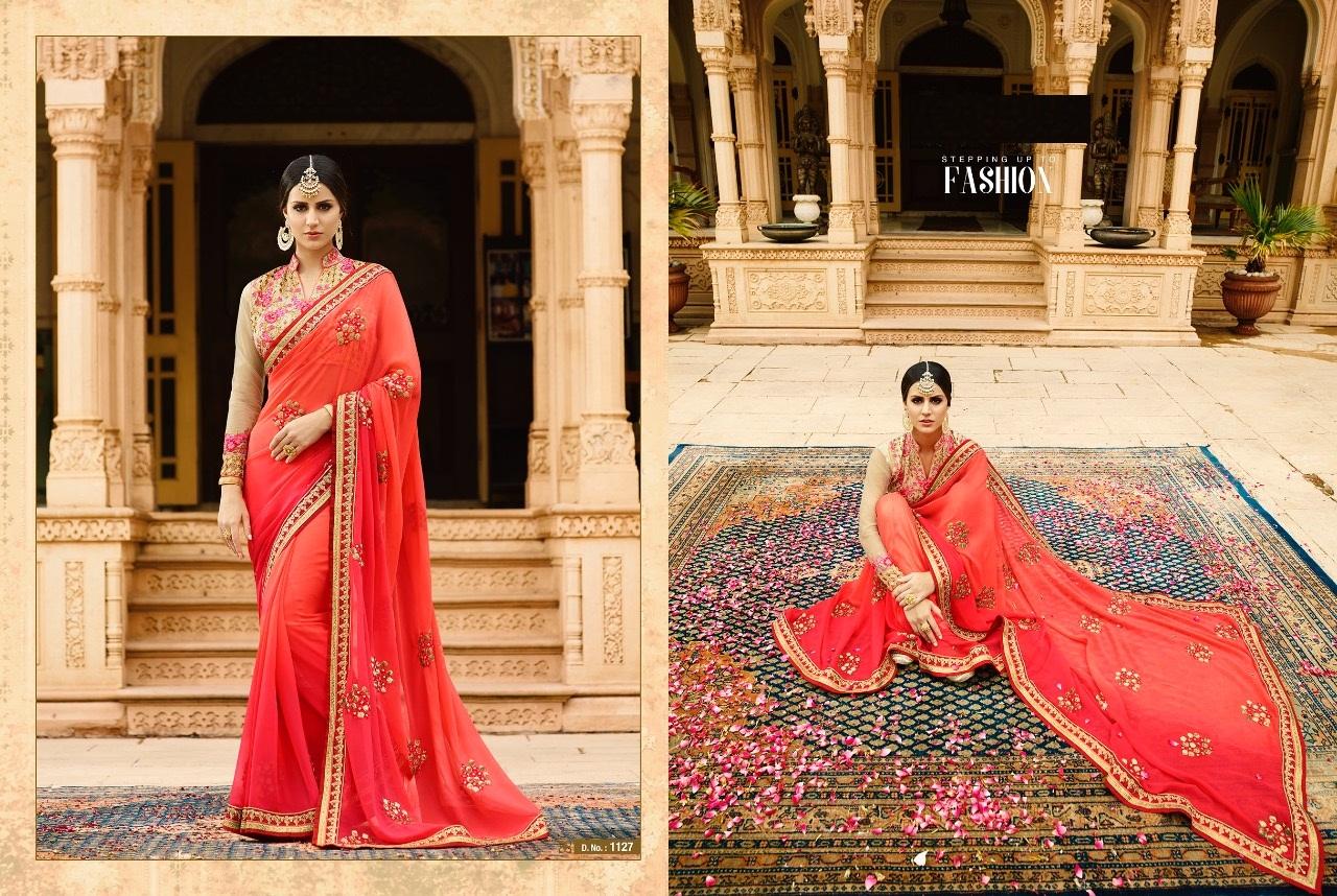 Royal Designer Sarees Code Sakshi 1127