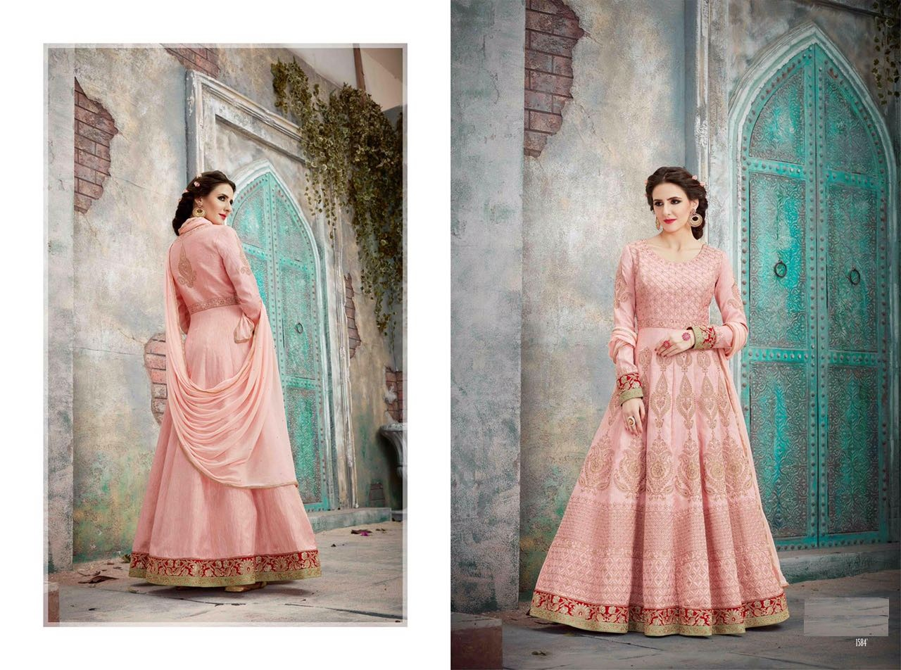 Royal Vintage Floor Length Anarkali Suits 1584