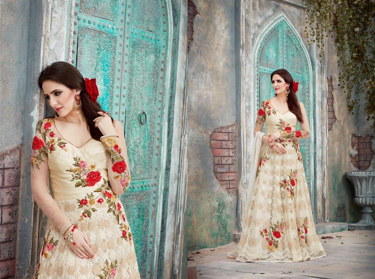 Royal Vintage Floor Length Anarkali Suits 1585