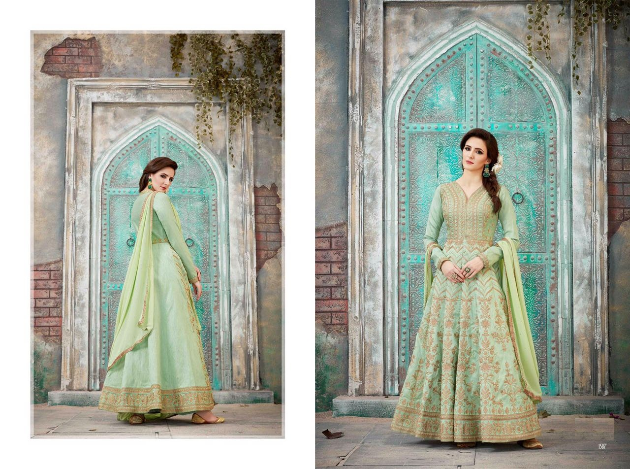 Royal Vintage Floor Length Anarkali Suits 1587