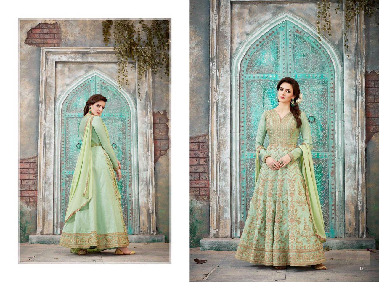 Royal Vintage Floor Length Anarkali Suits 1587