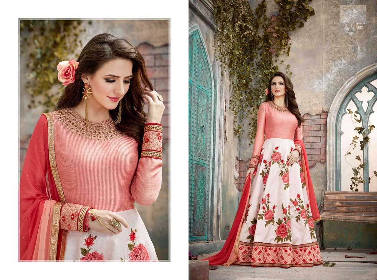 Royal Vintage Floor Length Anarkali Suits 1588