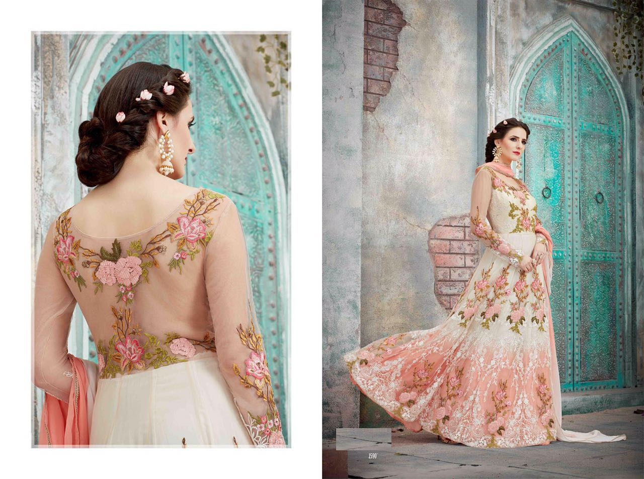 Royal Vintage Floor Length Anarkali Suits 1590