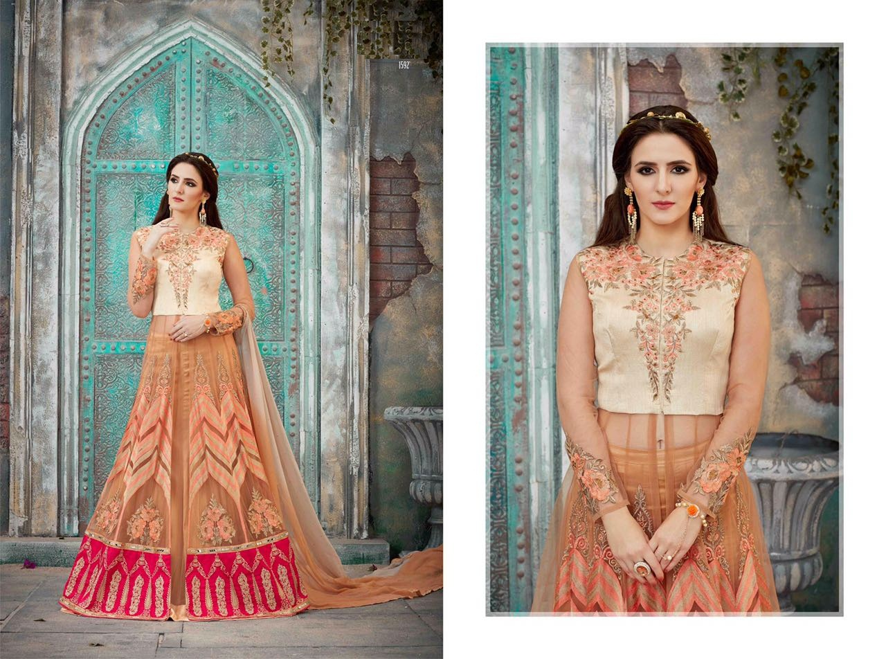 Royal Vintage Floor Length Anarkali Suits 1592
