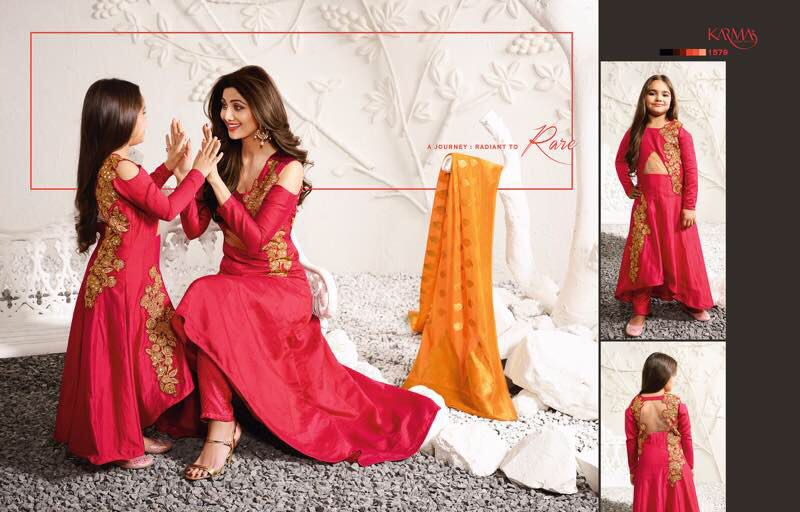 b797b7309805 Shop Mother and Daughter Dresses Online by Karma | ArtistryC from India