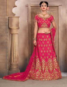 Shop The Mermaid Mulberry Silk Bridal Lehenga CholiOnline with the best price.