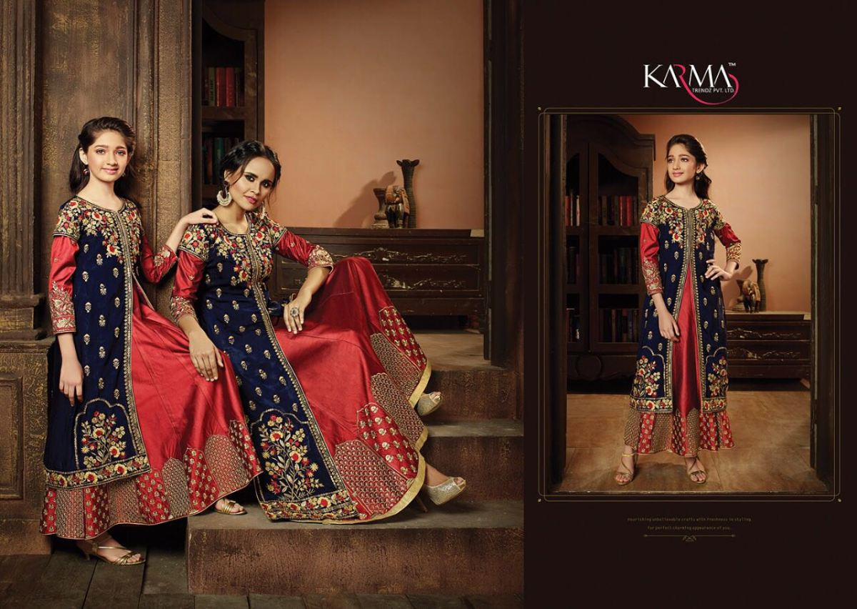 Shop Karma Mother & Daughter Designer Salwar Suits Online