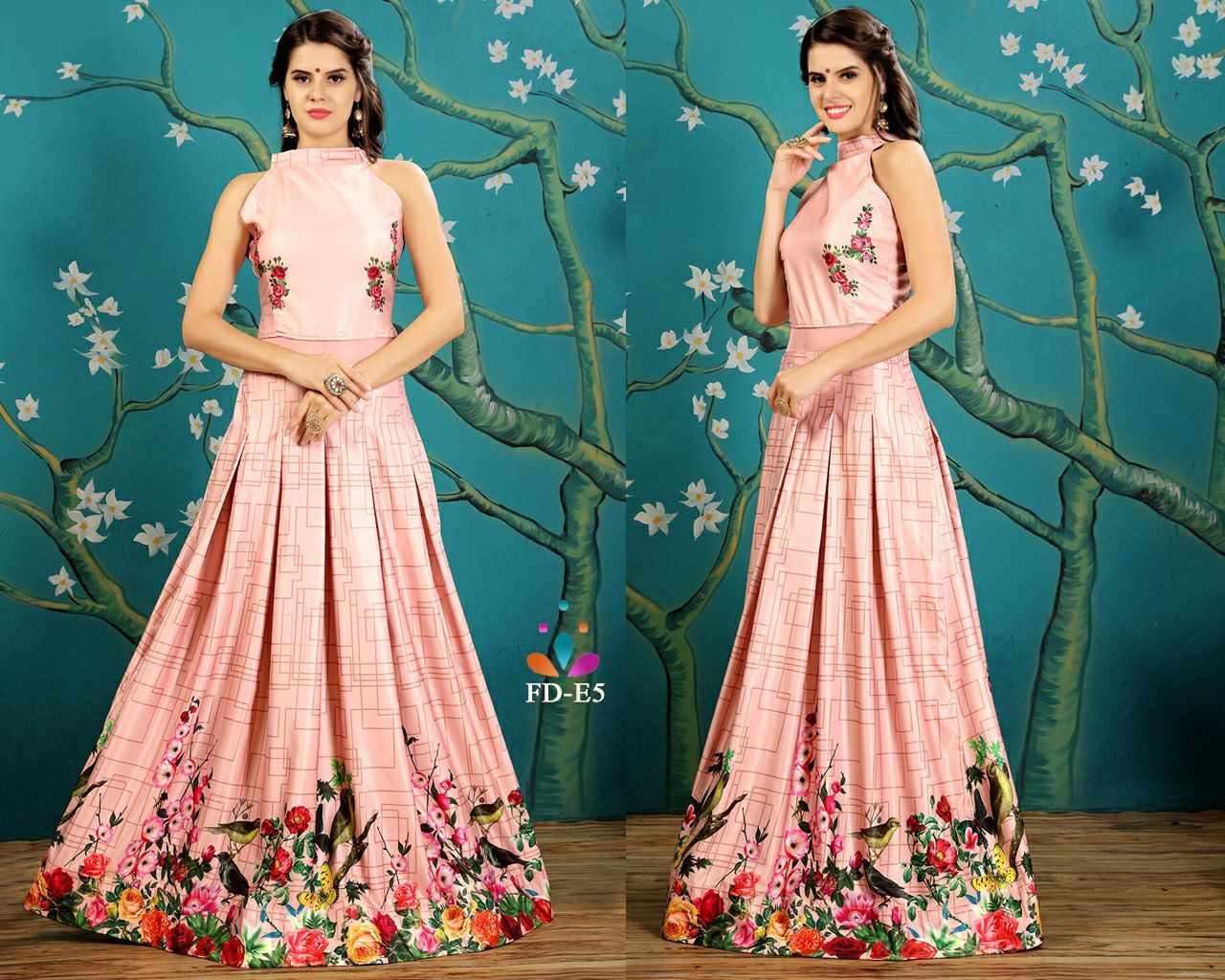 Nakshatra Printed Gown Ready to Wear